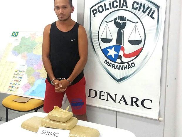 Vereador transportava 3,5 kg de crack, segundo a Senarc-MA (Foto: Divulgação / Senarc-MA)