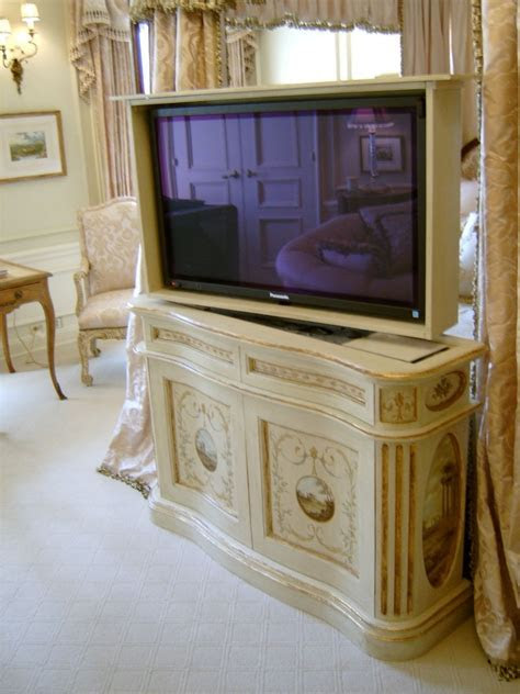 Hand Crafted Foot Of The Bed Tv Lift Console by Jeffrey