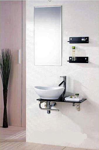 Wall Mount Vanity Sink Vessel Sink Shelf And Faucet Set Gvm001
