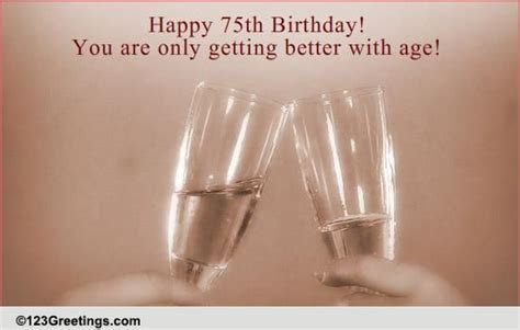 75th Birthday Wish! Free Milestones eCards, Greeting Cards