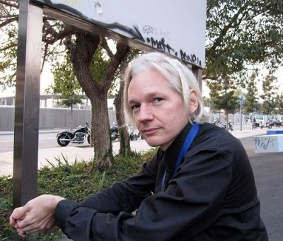 Julian Assange, do site WikiLeaks. Foto Esthr/Flickr