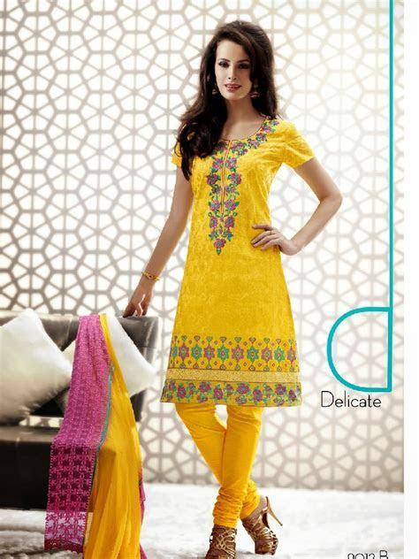 Indian Casual Wear Salwar Kameez 2013 2014   Kalyan Silk
