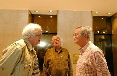 Bertrand Tavernier, Héctor Olivera y Roger Corman en 2002