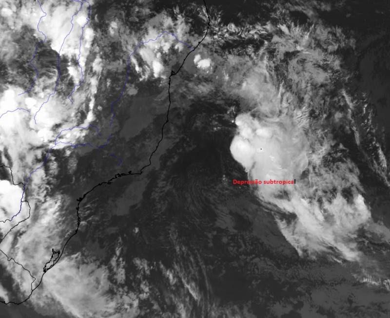 Depressão Subtropical na Costa do Brasil