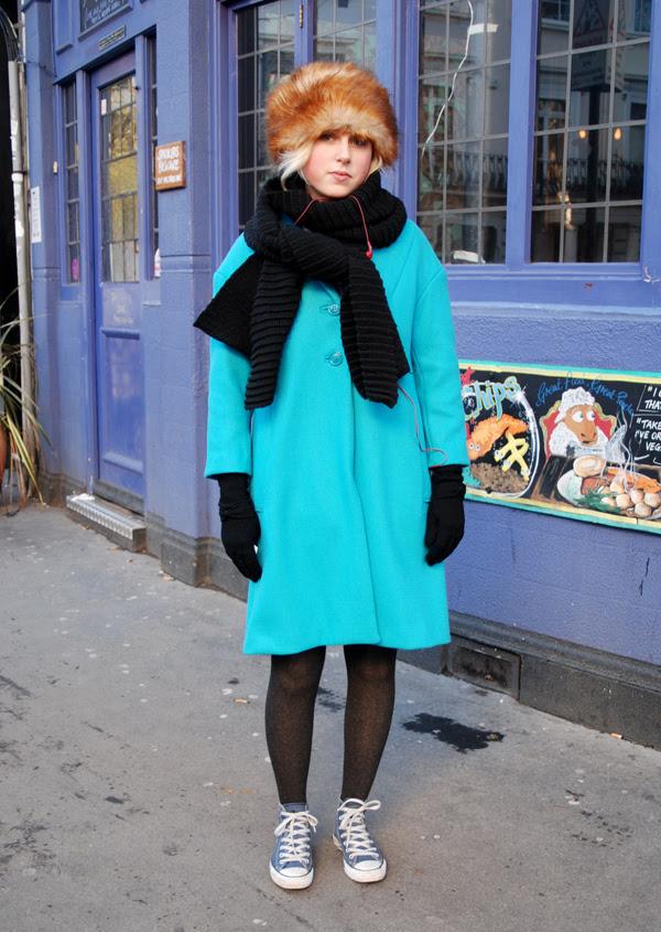 Blue Coat, Fur Hat