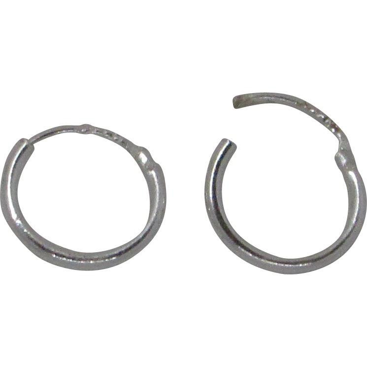Small Sterling Silver Easyon Hinged Continuous Endless Hoop