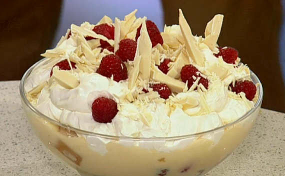Phil Vickery summer fruit and white chocolate trifle ...