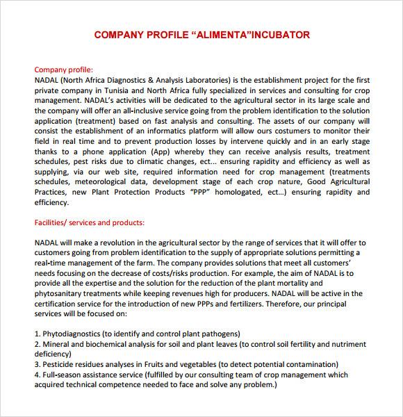 Writing company background