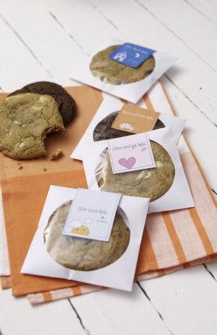 cookies packaged in CD sleeves! :-)  awesome idea.