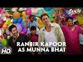 Watch: Ranbir Kapoor recreates Sanjay Dutt's popular scene from Munna Bhai MBBS