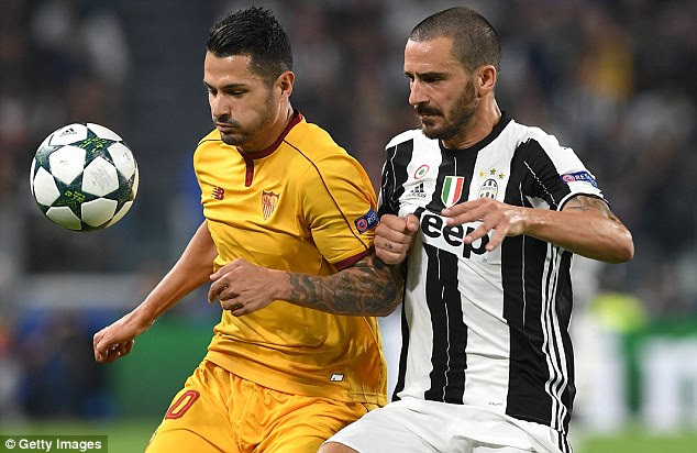Leonardo Bonucci (right) of Juventus was another defensive target for Chelsea in the summer