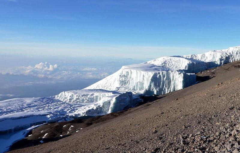 Ледники на Килиманджаро. Фото