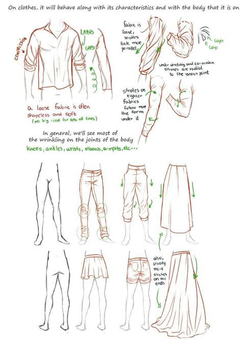 drawing reference clothing folds  fits anime amino