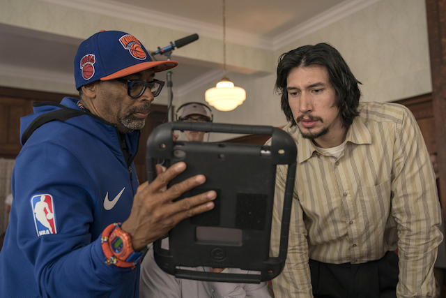 The director Spike Lee on the set of his film BlacKkKlansman. Photo courtesy of the Cannes press office.