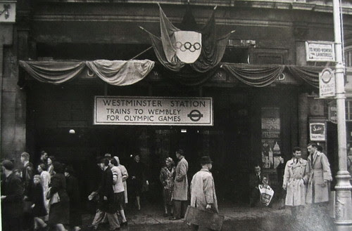 Westminster Tube and Olympics Game decorations 1948