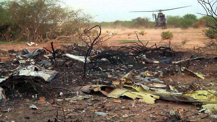 Swiftair  acidente 2 - Photo AFP