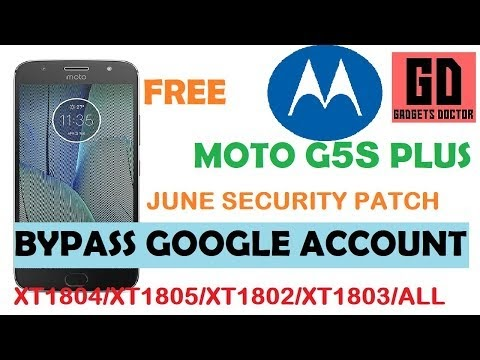 Bypass FRP Google Account For ALL MOTO G5S PLUS XT1804