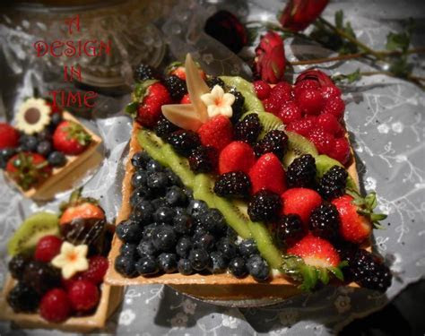 A DESIGN IN TIME   FRUIT AND GANACHE TARTS