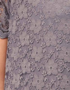 Image 3 ofKookai Short Sleeved Lace Mini Dress