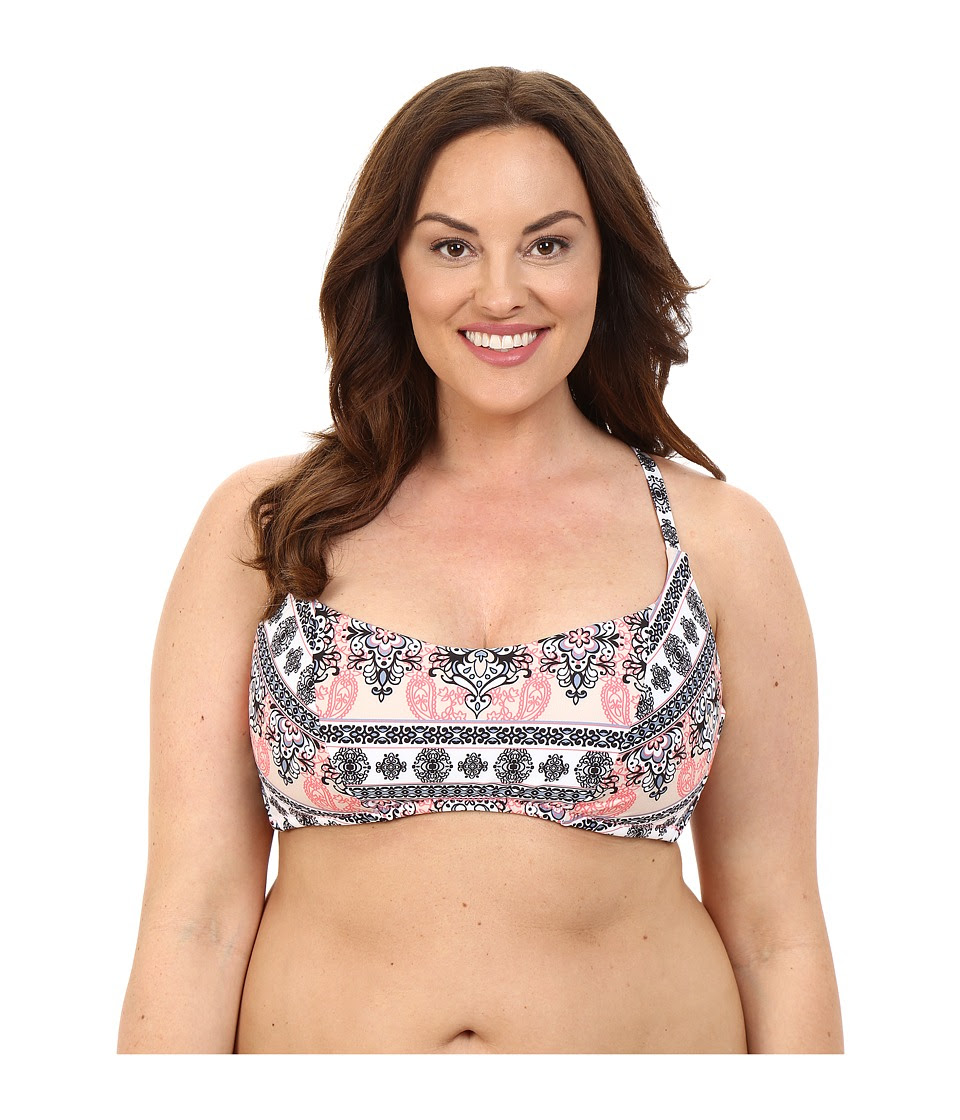 BECCA by Rebecca Virtue - Plus Size Belly Dancer Halter Top (Multi) Women's Swimwear