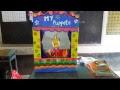 "2nd class telugu ""భైరవుడు "" lesson puppet show"