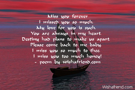 Miss You Forever Missing You Poem