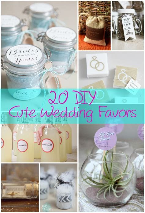 20 DIY Cute Wedding Favors   DIY Ideas   Wedding Favors