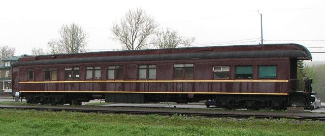 Ex-Pullman car LYNNEWOOD in Amqui Quebec