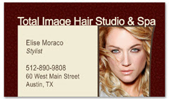 BCS-1119 - salon business card