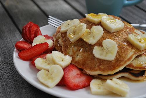 cute food photos - Breakfast Banana Love