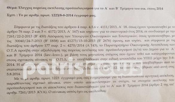 """Ηλεία: Σε καθεστώς επιτήρησης ο Δήμος Πύργου μετά το έγγραφο """"φωτιά"""" (pic)"""