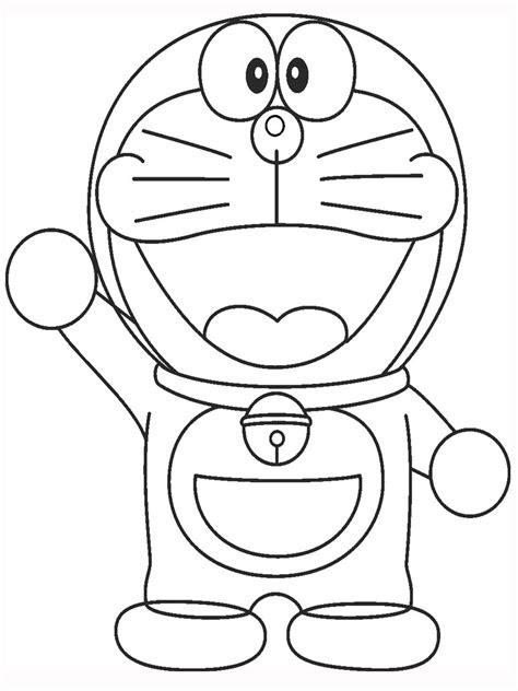 Gambar Doraemon Yang Belum Diwarnai