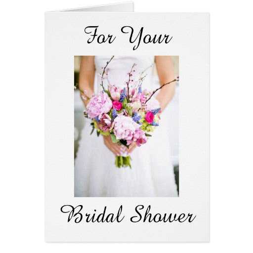 bridal shower card with wishes on new journey   zazzle