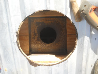 Stove Pipe Base Form Roof Hole