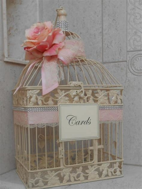 Birdcage Wedding Card Box / Ivory Wedding Birdcage