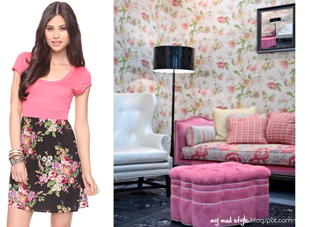 dress and room floral
