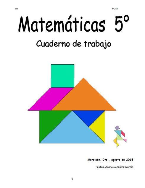 Matemáticas 5° grado Comprensión lectora 5° Cuaderno de trabajo