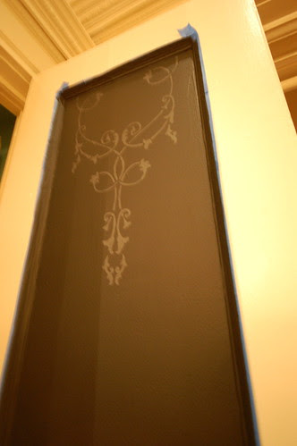 Pattern on Chalkboard Door