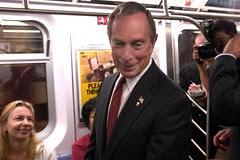 Mayor Bloomberg on the subway