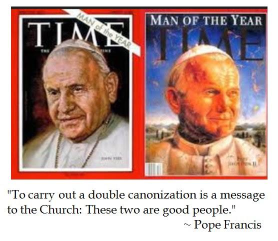 Pope Francis Canonization JP II  John XXIII