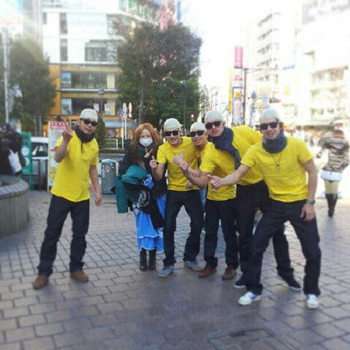 Shibuya creatures on a sunday early morning #shibuya#crazy#tomyo#fun#party#bald#japan