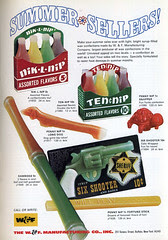 Syrup filled Wax candies ad