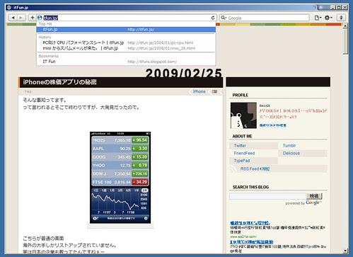Safari 4 β by you.