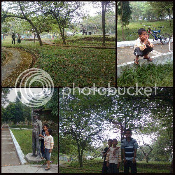 Suasana Taman yang Hijau
