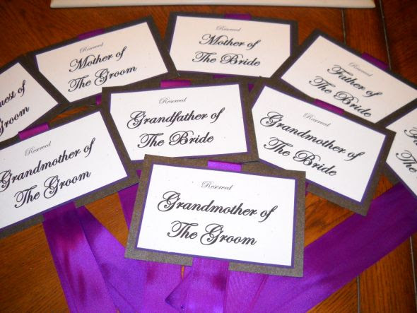 Menu Seating sashes Table Numbers wedding Chair Sashes 004