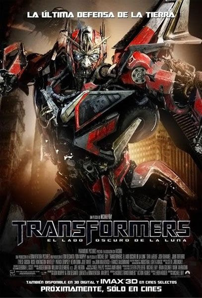 The international poster for TRANSFORMERS: DARK OF THE MOON.