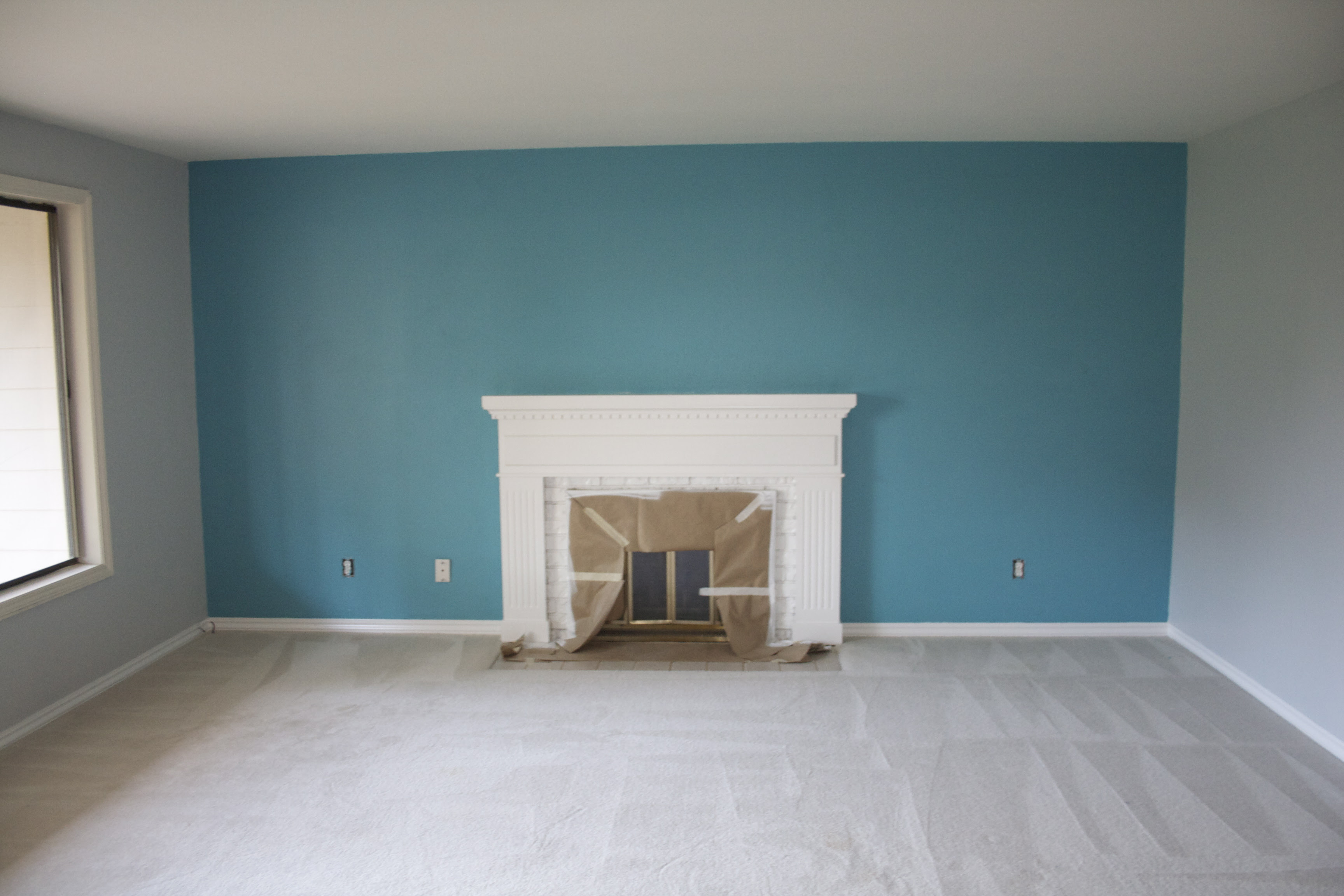 Blue Gray Accent Wall