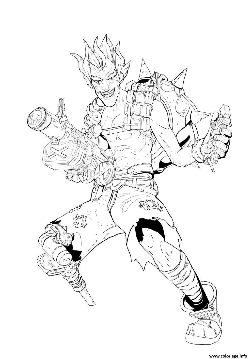 Coloriage Overwatch Chacal Heros De Defense Jecoloriecom