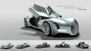 Bugatti Aerolithe Concept - Car Body Design