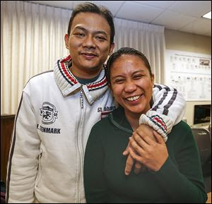 Jose Mamaril received a kidney from a donor in Georgia through the 'reverse transplant tourism' program. In return, his wife, Kristine, donated one of her kidneys, which did not match her husband, to a recipient in Minnesota.